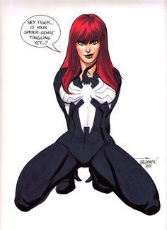 Sexy Mary Jane Amazing Spider-Man Venom original art Scott Dalrymple CGC it?? | eBay