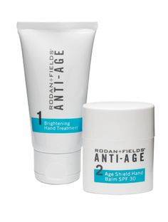 "If your hands are giving your age away then let Rodan + Fields® ANTI-AGE Hand Regimen be your secret weapon in combattting wrinkled-crepee skin. April's issue of InStyle also calls it ""The Answer"" for addressing dark spots on hands."
