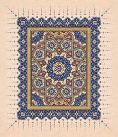 Tezhib – T-Shirts & Sweaters Islamic Art Pattern, Arabic Pattern, Persian Pattern, Pattern Art, Arabesque, Old Paper Background, Iranian Art, Turkish Art, Islamic Art Calligraphy