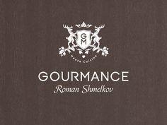 Gourmance / identity by a n a b o l i c , via Behance