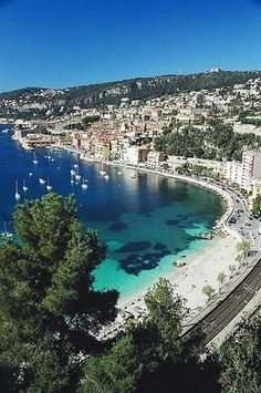 "Villefranche-sur-Mer is a commune in the Provence-Alpes-Côte d'Azur region on the French Riviera. It adjoins the city of Nice and is situated just 10 km south west of Monaco. The 3 ""corniches"" (main roads) linking Nice to Italy pass through here. Places Around The World, Oh The Places You'll Go, Places To Travel, Travel Destinations, Places To Visit, Dream Vacations, Vacation Spots, Beach Vacations, Wonderful Places"