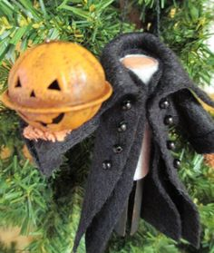 Headless Horseman Ornament Clothespin by ModerationCorner