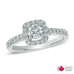 Ben Moss Jewellers 0 60 Carat Canadian Ice Centre Diamond 14k Certified White Gold Engagement Ring A Can Dream Pinterest