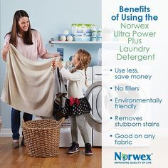 Did you know that fillers used in laundry detergents can be left behind on your clothes? Not with the Norwex UPP!