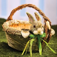 Easter Basket with Bunny.