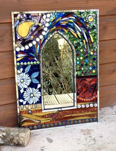 Mosaic Glass, Stained Glass, Painting, Craft, Painting Art, Paintings, Stained Glass Panels, Painted Canvas, Leaded Glass