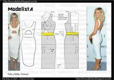 Diy Clothing, Clothing Patterns, Dress Patterns, Pattern Draping, Gown Pattern, Fashion Sewing, Diy Fashion, Costura Fashion, Modelista