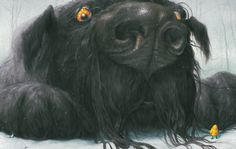 Black Dog illustrated by Levi Pinfold