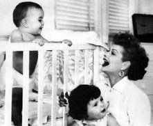 """""""I try to remind myself and others that the two things my mother wanted most - to have a family and have a career - happened after she turned 40."""" ~ Lucie Arnaz on her mom, Lucille Ball"""