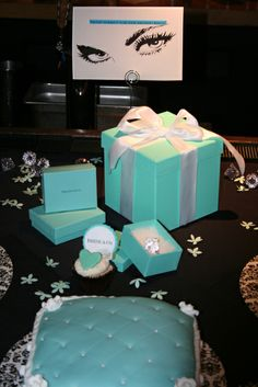 Breakfast at Tiffany's Bridal Shower decorations!  See more party ideas at CatchMyParty.com!