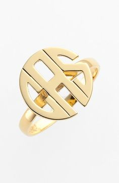 Jane Basch Designs Personalized Monogram Ring | Nordstrom