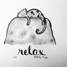 Relax - by Camille Medina, #inktober, #inktober2016