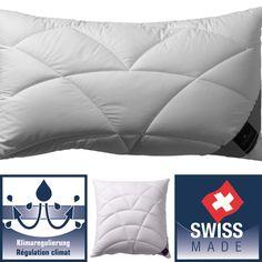 Hochwertiges KISSEN CLIMACONTROL mit Daunenanteil und mit perfektem Temperaturausgleich dank NASA-Hightech  Haben Sie zu kalt, wärmt das Kissen, haben Sie zu warm, kühlt es! Bed Pillows, Pillow Cases, Technology, Cold, Mattress, Pillows