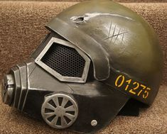 "Fiberglass Wire Mesh ""Fallout"" softair helmet with mask inspired by Fallout 3"