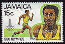 1980 Issue: Olympic Games, Moscow. Jamaican Olympic Gold Medal Winners. Don Quarrie (200 m, 1976)
