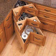 alternative to the corner lazy susan cabinet