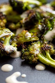 This roasted broccoli goes wonderfully with the classic and irresistible tahini garlic sauce. (Photo: Andrew Scrivani for The New York Times)