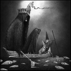 Welcome to John Kenn Arte Horror, Horror Art, Dark Art Illustrations, Illustration Art, Dark Fantasy, Fantasy Art, John Kenn, Cool Monsters, Fairytale Art
