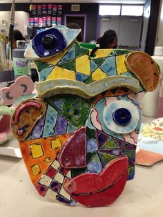 Picasso inspired mask made by one of my students