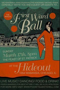 First Ward Ball poster