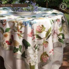 MIRAFLOR tovaglia in raso 100% cotone #Toscana #Firenze#fiori#foglie
