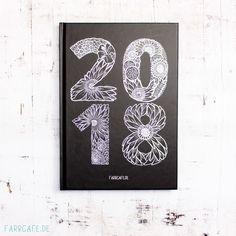 Kreativkalender 2018 mit wöchentlicher Kreativchallenge, Din A5 hardcover