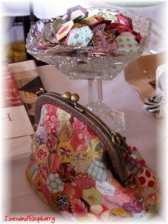 I've got a footed dish, and some hexies, but getting from there to the purse is something else