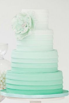 Mint ombre wedding cake... with or without a minty filling