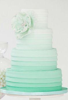 Mint ombre wedding c