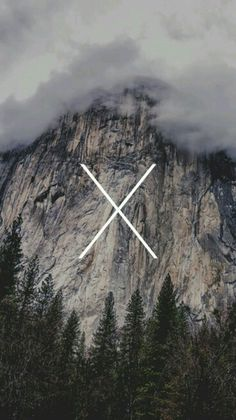 X marks the adventure. Wallpaper.