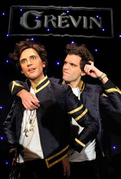Mika with his wax statue at (aka Wika) at the  Musee Grévin on December 6, 2010 in Paris, France