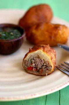 Carimañolas de carne (Colombie)