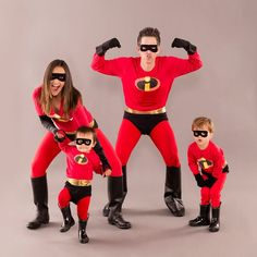of the Best Family Costumes for Halloween Superhero Family Costumes, Family Costumes For 4, Family Halloween Costumes, First Halloween, Superhero Party, Batman Party, Halloween Ideas, Halloween 2020, Family Super Hero Costumes