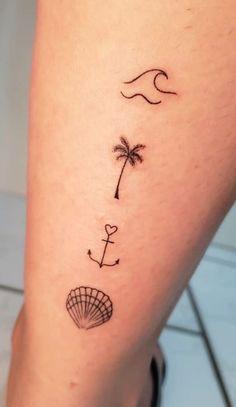Little Tattoos, Mini Tattoos, Love Tattoos, Body Art Tattoos, New Tattoos, Tatoos, Tropisches Tattoo, Piercing Tattoo, Piercings