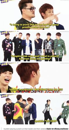 Hyukbin messing with N. They can mess with N because they know Leo would kill them.