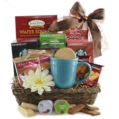 Unique gift baskets handmade to order - including completely custom gift baskets. K Cups, Coffee Gifts, Gift Baskets, Customized Gifts, Unique Gifts, Artisan, Mugs, Drinks, Tableware