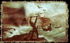 Asgards Reisen Sketch (1996) Viking Designs, Old Norse, Norway Travel, Viking Ship, Ancestry, Folklore, Vikings, Medieval, Places To Visit