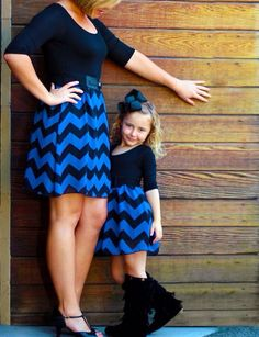Cute matching dresses for mother and daughter.