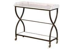 Leo Marble Bar Cart
