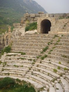 Amphitheater, Pergamum, Turkey- so steep and extremely scary for me!