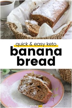 Keto Banana Bread with Almond Flour. Yes, you can eat banana bread on your keto diet! Check out our delicious keto banana bread recipe that takes only 35 minutes!