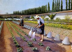 The Gardeners, 1875-1877 - Gustave Caillebotte (French, 1848-1894) Impressionism