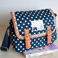 Lace Polka-Dot Messenger Bag