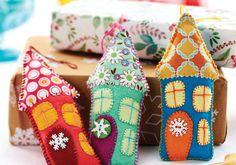How to Make Felt Christmas Houses #ChristmasTree #ChristmasDecoration