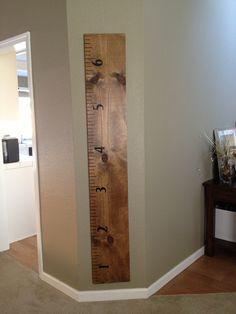 DIY growth chart ruler!