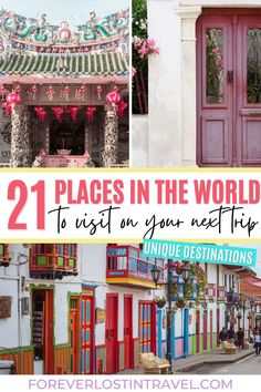 Looking for some unique travel destinations? Here are 21 of the most incredible locations you have to see around the world. Stray away from the usual places and discover somewhere new. Top recommendations by travel bloggers from around the world, these are 21 places you won't want to miss. The only quetions is: which one do you visit first? #travel #foreverlostintravel #bucketlist #travelinspiration #uniquedestinations #offthebeatenpath #hiddengems Brazil Travel, Travel Usa, Solo Travel, Beautiful Places To Travel, Cool Places To Visit, Travel Guides, Travel Tips, Worldwide Travel, South America Travel
