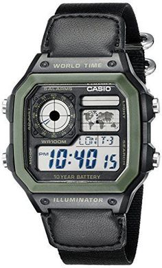 a1cab0f1fe8 Casio Mens AE1200WHB1BV Black Resin Watch with TenYear Battery -- You can  get more details