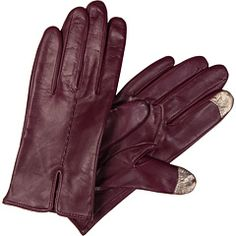 Echo leather texting gloves