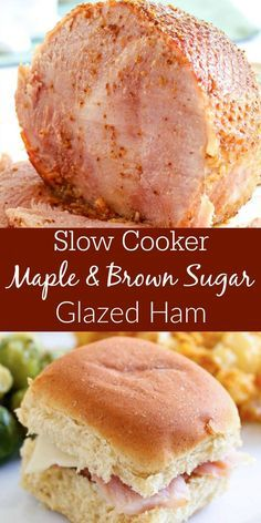 For a show-stopping Easter Meal, try this Slow Cooker Dijon Maple & Brown Sugar Glazed Ham!