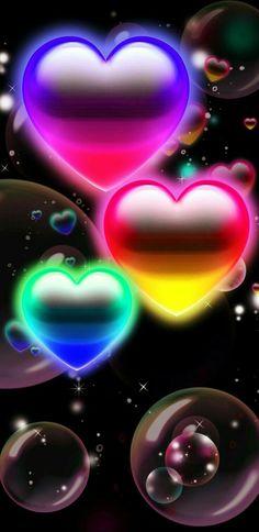 Pink Wallpaper Heart, Wallpaper Iphone Love, Rainbow Wallpaper, Butterfly Wallpaper, Cellphone Wallpaper, Colorful Wallpaper, Girl Wallpaper, Beautiful Wallpaper, Phone Wallpapers